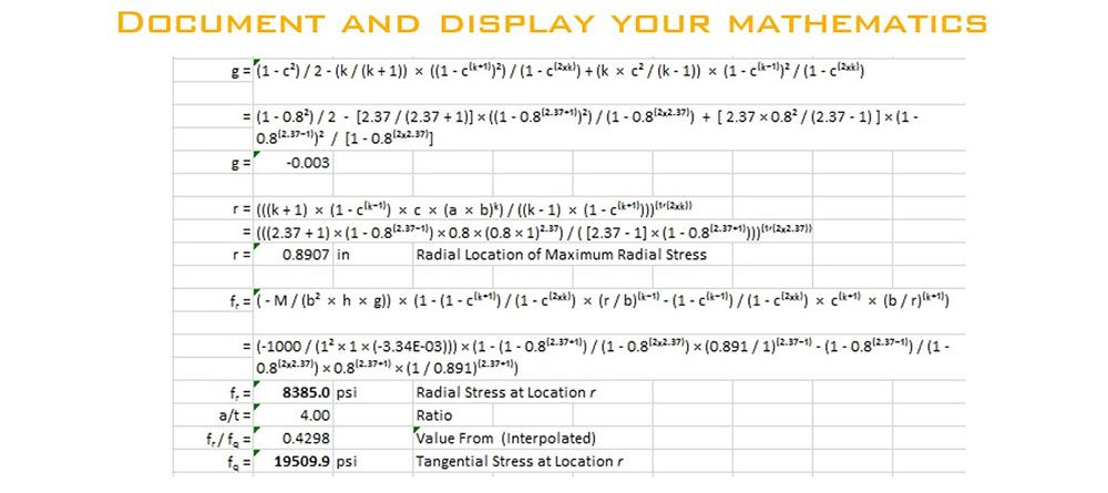 Document and display your mathematics