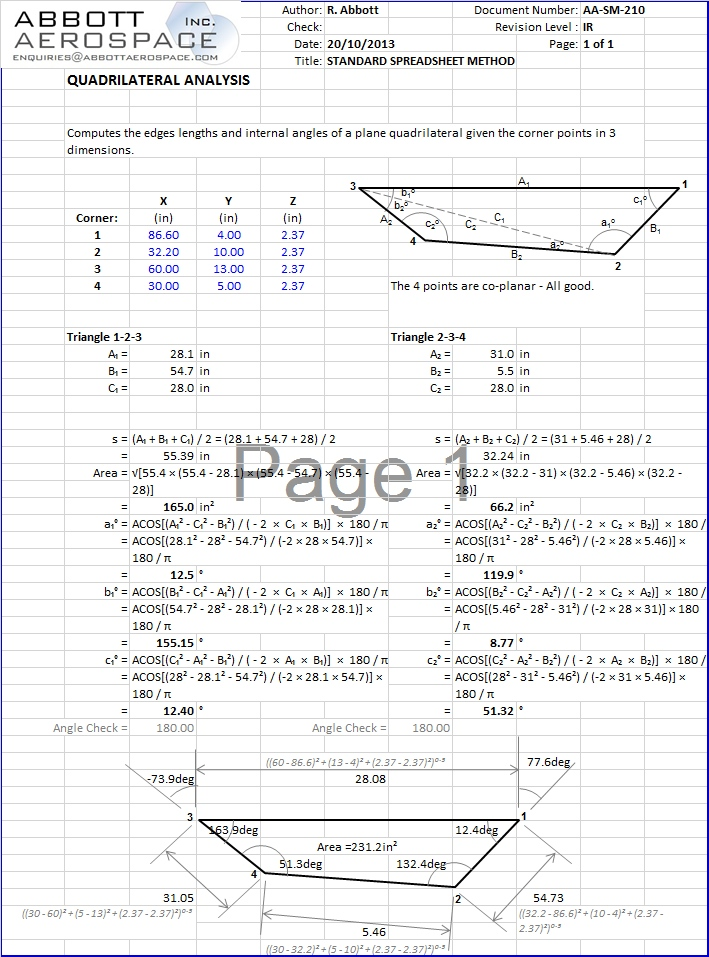 AA-SM-210 Tools - Quadrilateral Analysis