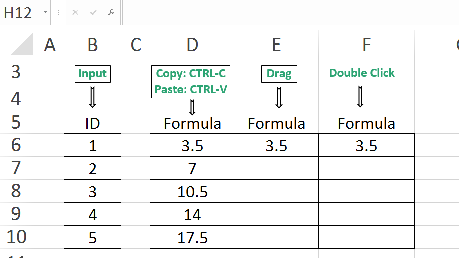 Learn Excel in 15 Seconds-How to Copy Excel Formula-Paste-Drag-Double-Click